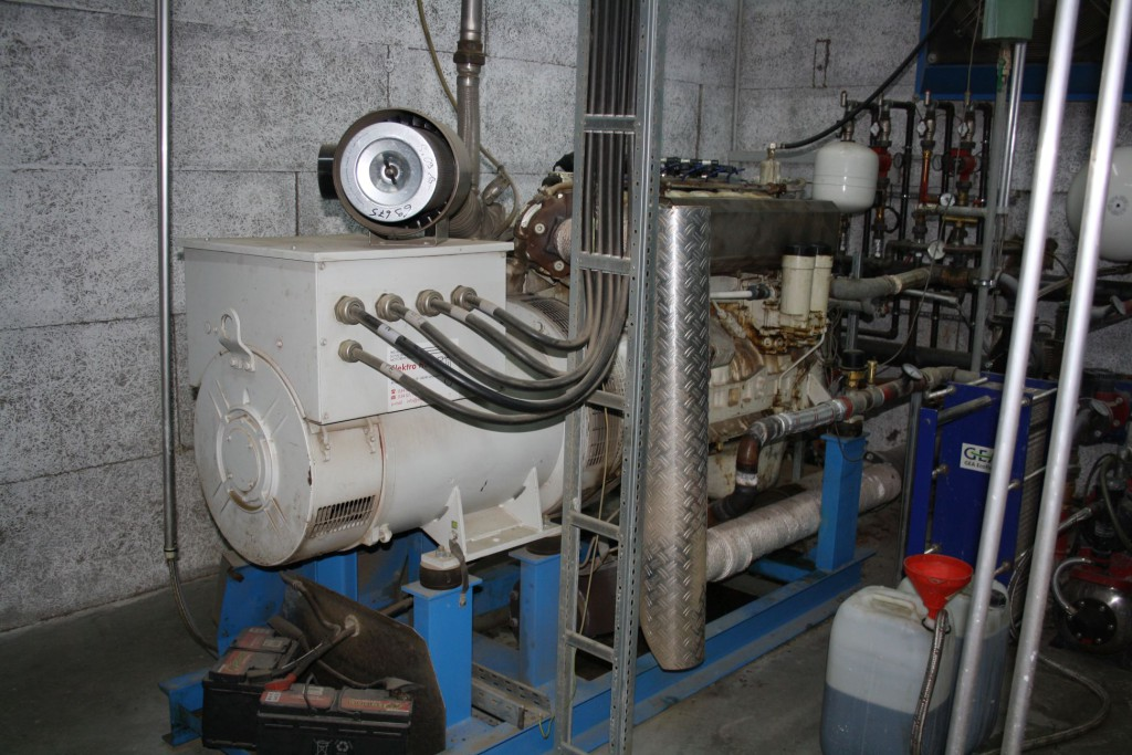 Bild 5: Generator zur Stromgewinnung aus Biogas